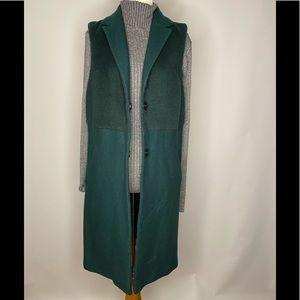 Topshop hunter green vest coat